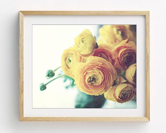 Yellow flower still life botanical art print floral wall art photography ranunculus bedroom art  Persian Buttercup is part of bedroom Art Photography - 2vOjUoi Return to my shop LupenGrainne etsy com