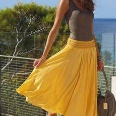 Как сшить юбку полусолнце до пола на резинке