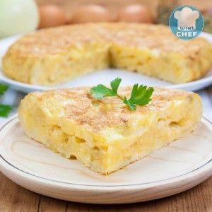 Tortilla de Patatas al Estilo Español | WikiChef