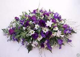 Purple Flowers For Funeral Google Search Funeral Flowers