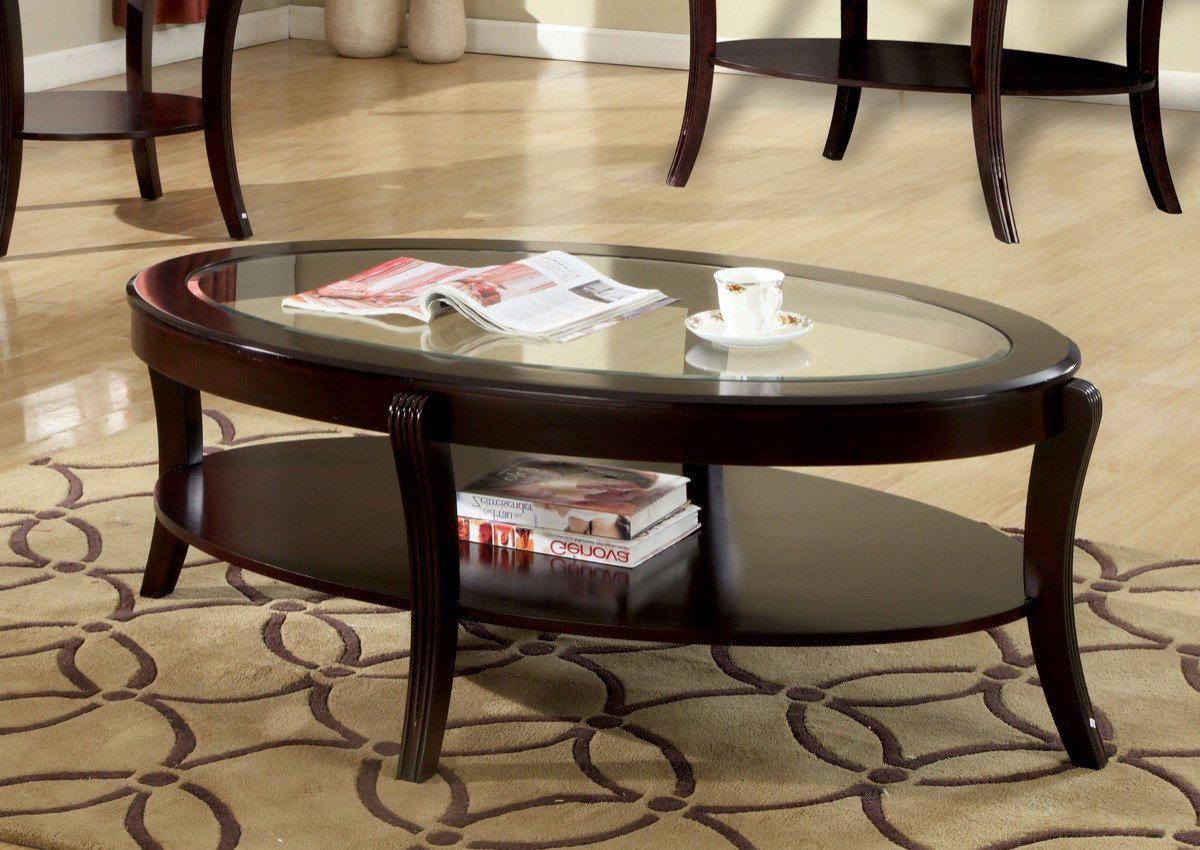 Furniture Of America Aroxya Oval Glass Top Insert Coffee Table Espresso Based In California Furniture O Coffee Table Solid Wood Coffee Table Coffee Table Wood [ 850 x 1200 Pixel ]