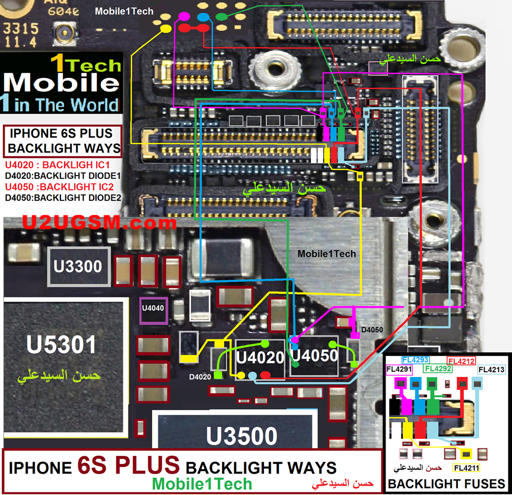 iPhone6SPlusDisplayLightSolutionJumperProblemWays