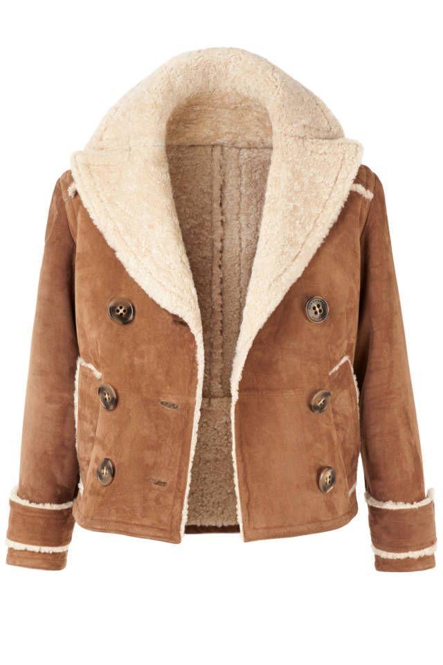 Chic Shearlings: Shop the Season's Best | Shearling coat, Shopping ...