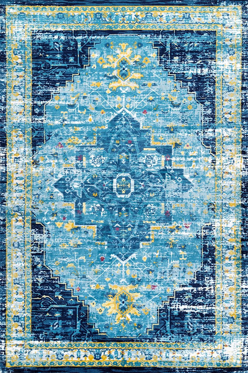 Arearugs Com Nakra Pepw64i 5 0 Quot X 8 0 Quot Blue Area Rug In
