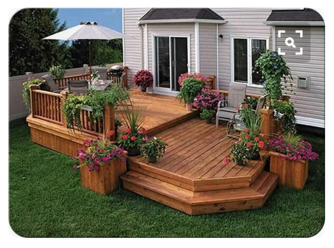 Pin by Wendy Jones on My Saves | Deck designs backyard ... on 2 Level Backyard Ideas id=97825