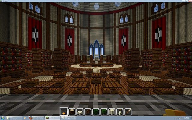 Minecraft version of Library