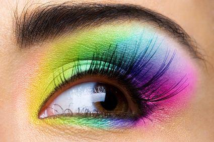How to do rainbow style eyeshadow schminken pinterest - Geschminkte augen ...