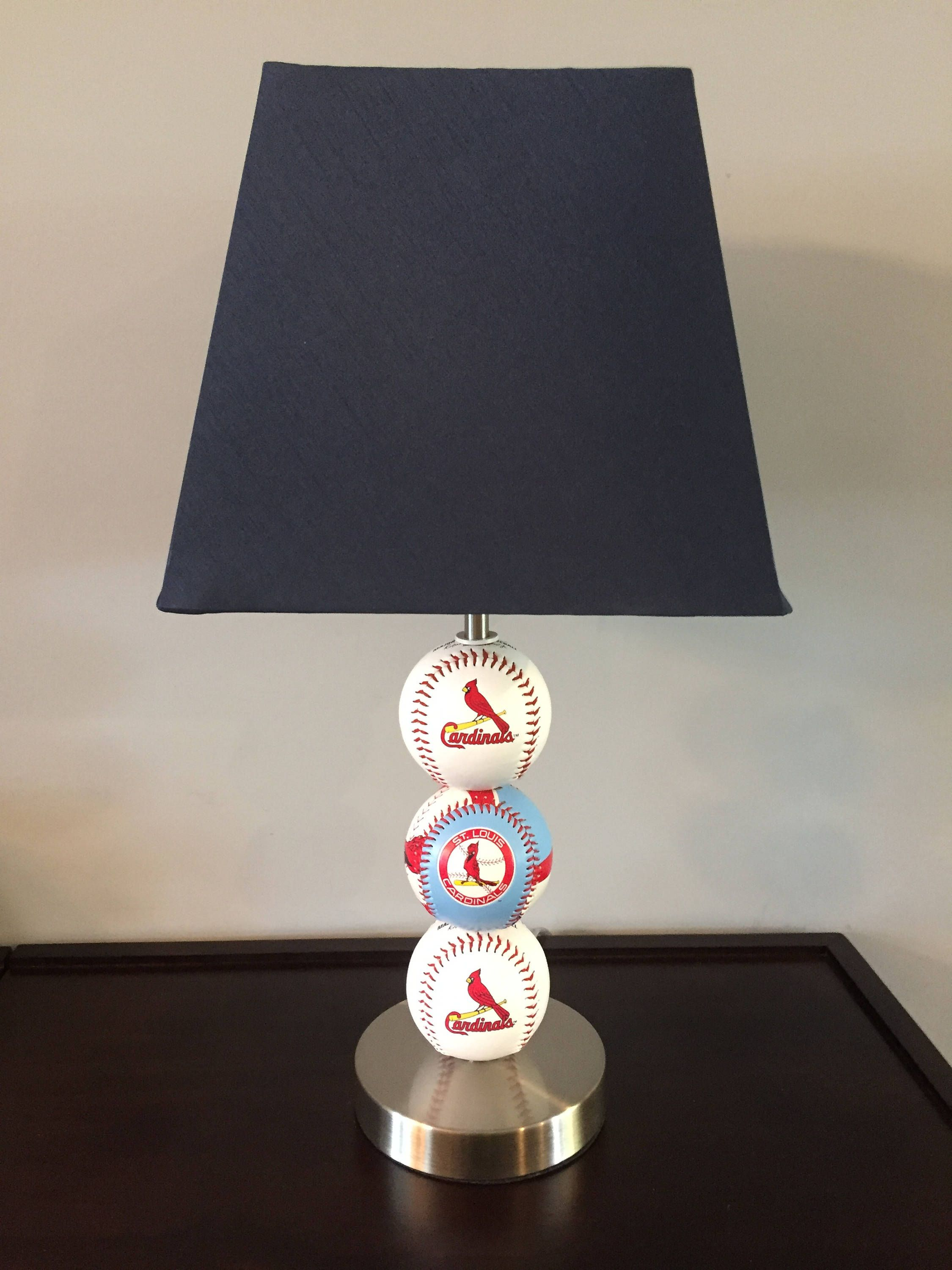 Pin by christy vesci on christy vs custom creations pinterest baseball lamp baseball table square lamp shades st louis cardinals baseball retro logos brushed stainless steel table lamps buffet lamps mozeypictures Choice Image