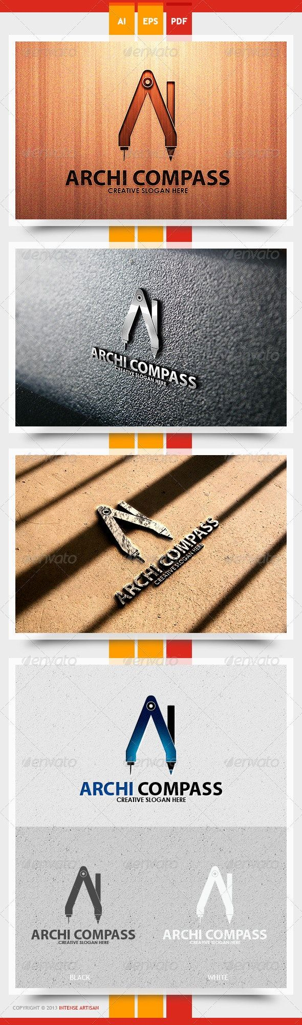 Archi Compass Logo Template Logo templates, Eye logo