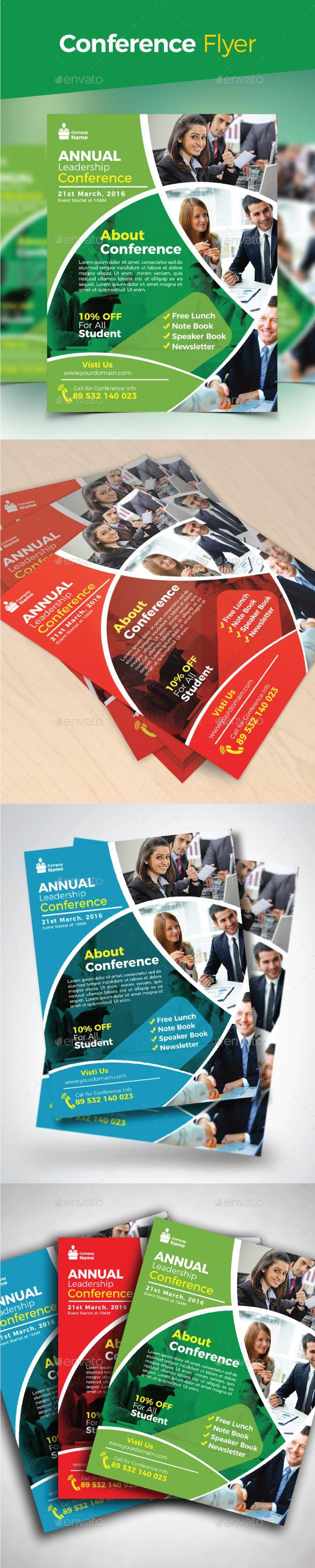 Conference Flyer  Ai Illustrator Flyer Template And Illustrators