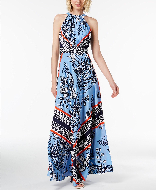 I N C Petite Printed Halter Maxi Dress Created For Macy S Macys Com Maxi Dress Halter Maxi Dresses Petite Maxi Dress [ 1500 x 1230 Pixel ]