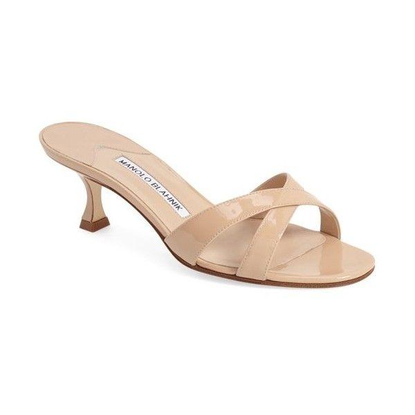 Manolo Blahnik Callamu Slide Sandal 2 1 4 Heel Manolo Blahnik Kitten Heel Sandals Sandals