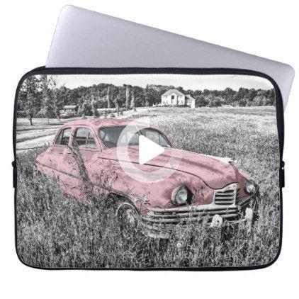 Pink Classic Car Laptop Sleeve   Zazzle.com