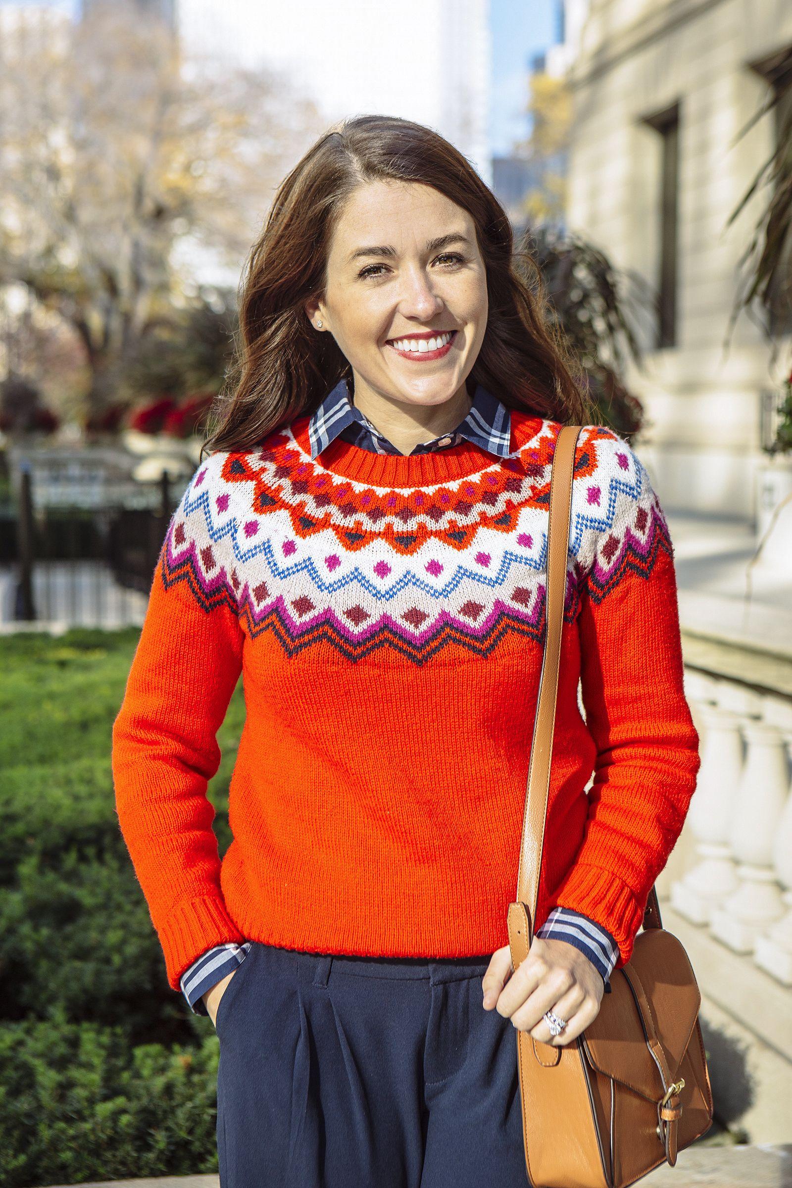 Fair-isle done right - Loving Sequins & Stripes cute look ...