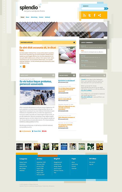 Free WordPress 3.1 Theme: Splendio (With PSD Sources) | Smashing ...