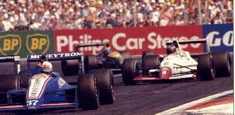 Le Castellet 1989, Bertrand Gachot ONYX ORE1 ahead of