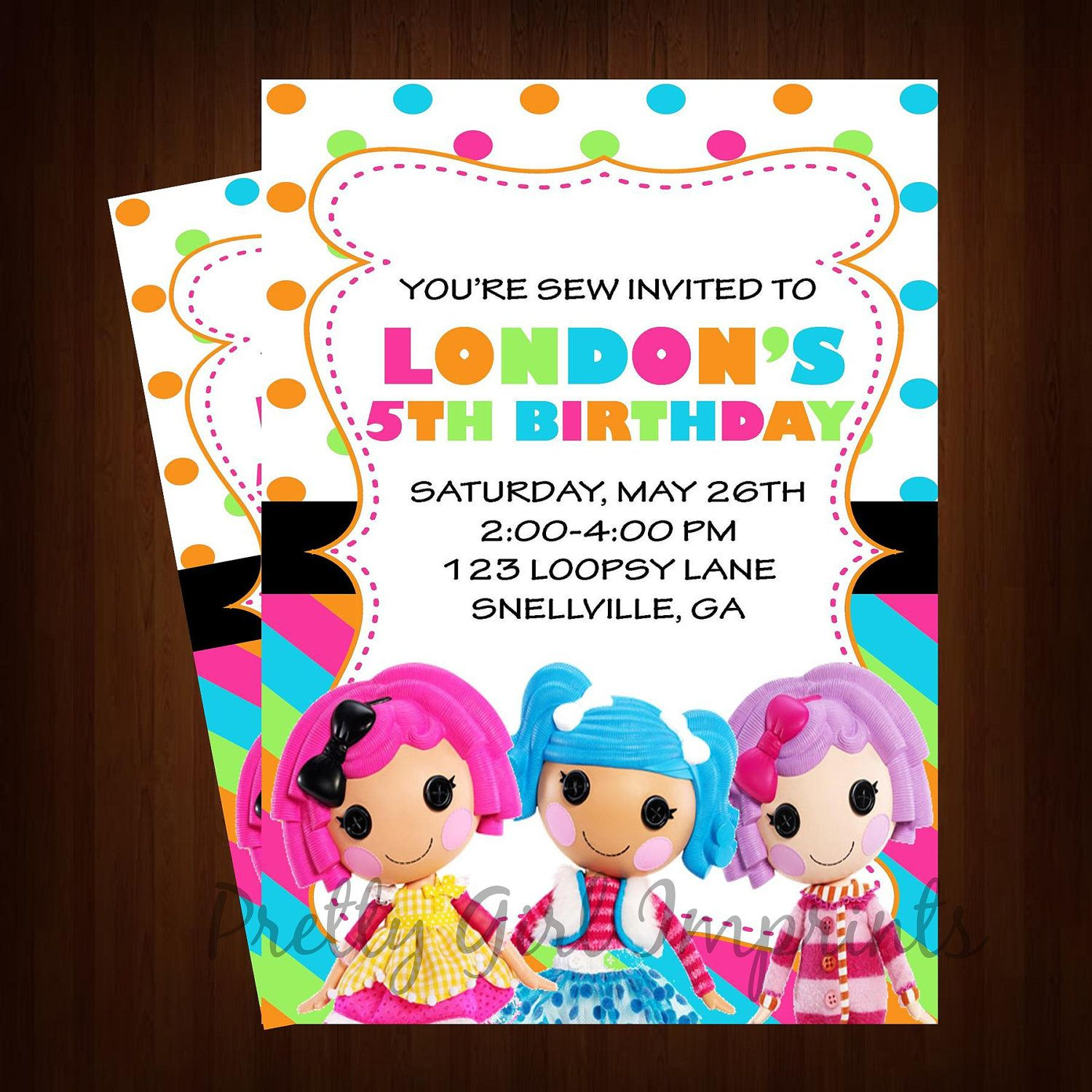 Lalaloopsy Invitation - Printable Lalaloopsy Birthday Invitation ...