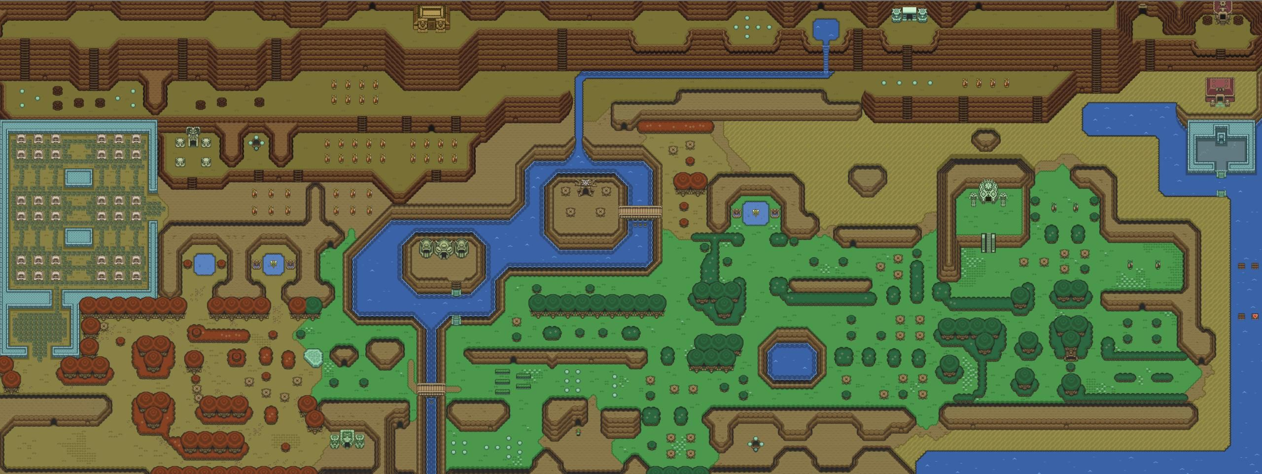 The Legend Of Zelda World Map Recreated With A Link To Past And Legend Of Zelda Zelda Hd Zelda Ideas for zelda link to past map