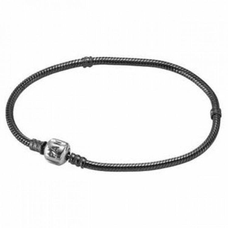 Pandora clasp oxidized sterling silver bracelet sterling