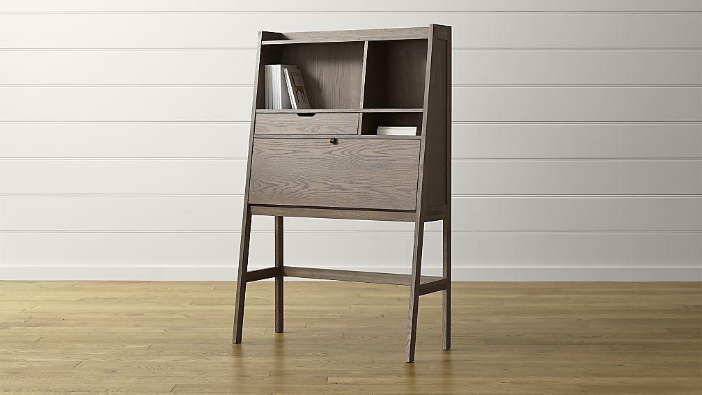 Clarke Secretary Desk Modern Home Office Desk Modern Secretary Desk Furniture