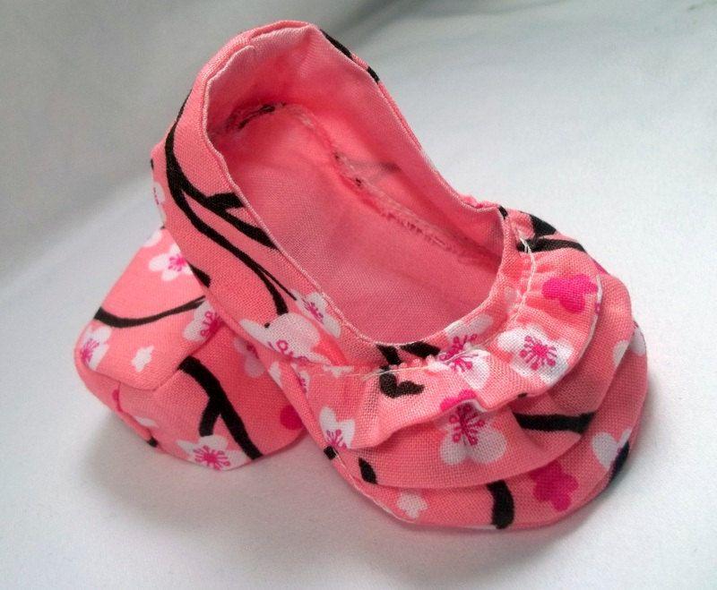 f116fda91 LAST PAIR Pink and White Cherry Blossom Baby Girl Ballerina Ruffle ...