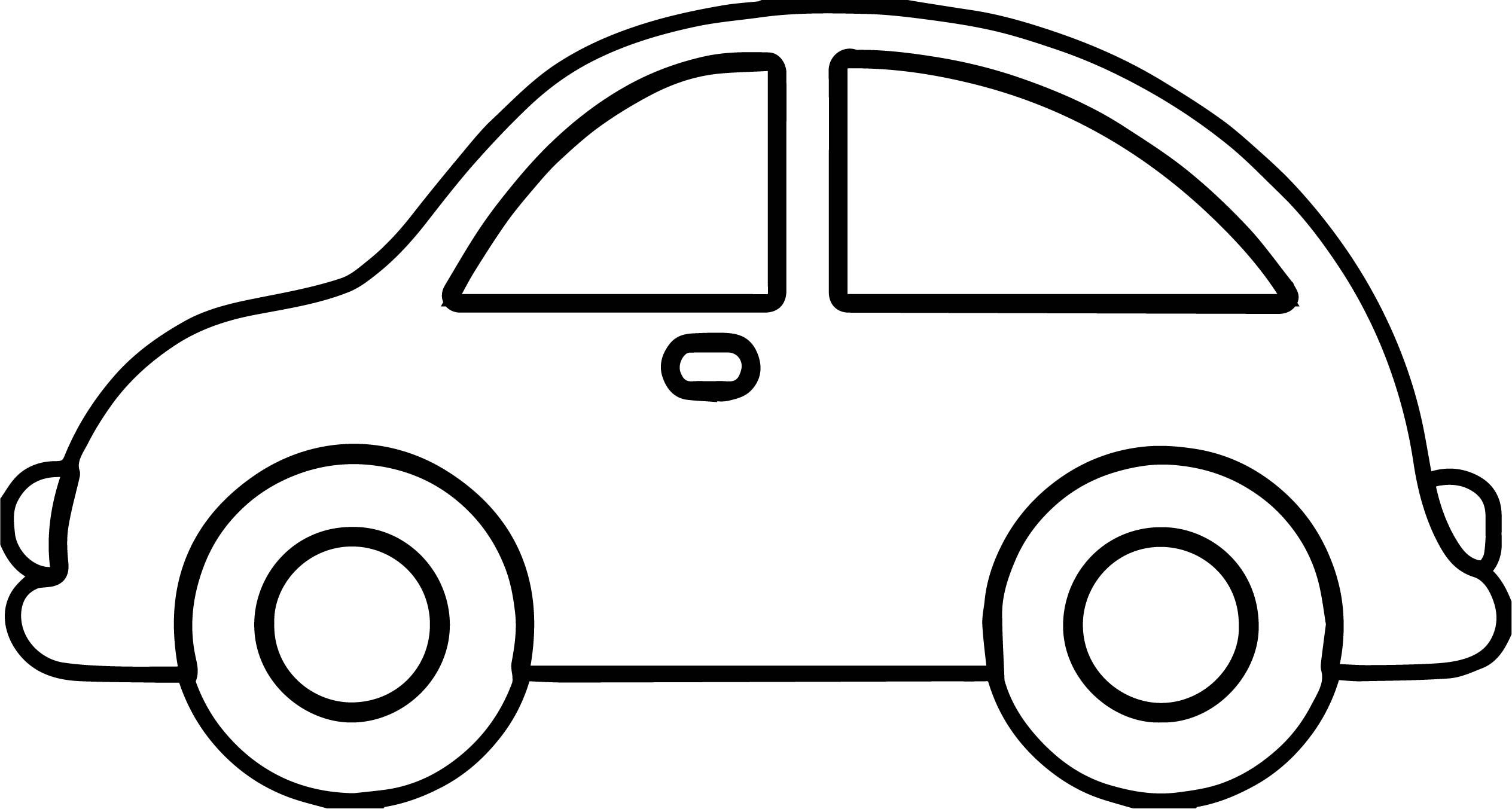 Cool Toy Car Basic Side View Coloring Page