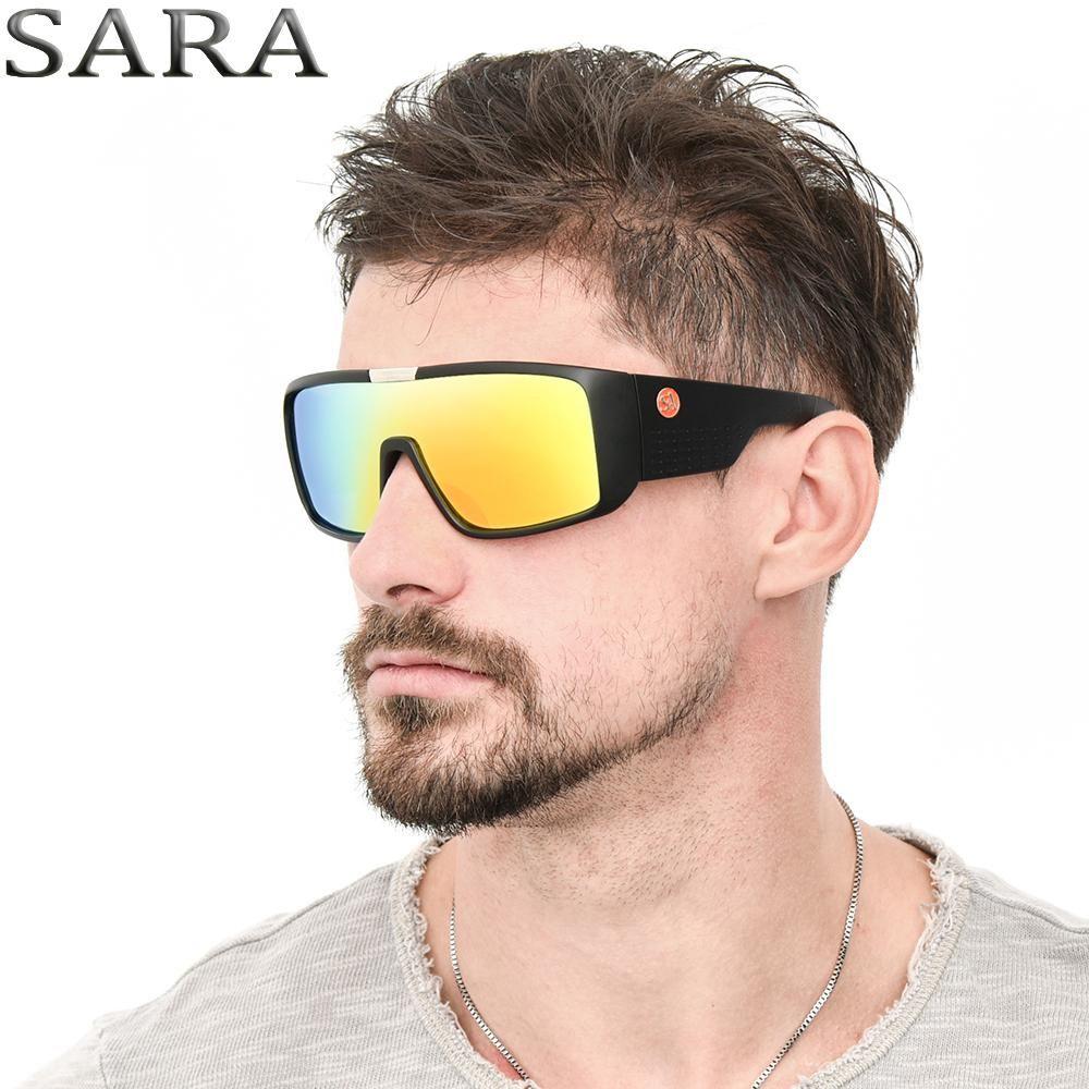 b67646b558079 SARA Brand Sport Goggle Dragon Sunglasses Domo Men HD Single Lens Sun  Glasses Women Designer Glasses UV400 New Oculos SA2030 CE