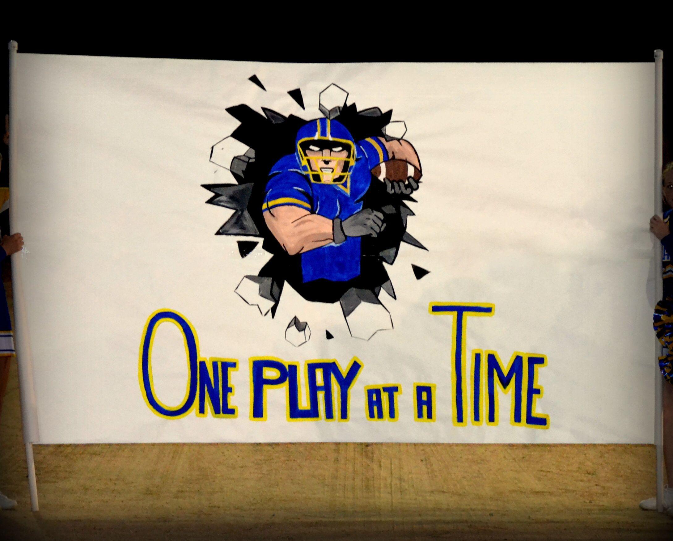 High school football run through one play at a time