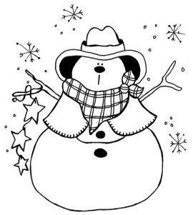 western christmas coloring pages | Navidad.102 | Western christmas, Christmas embroidery ...
