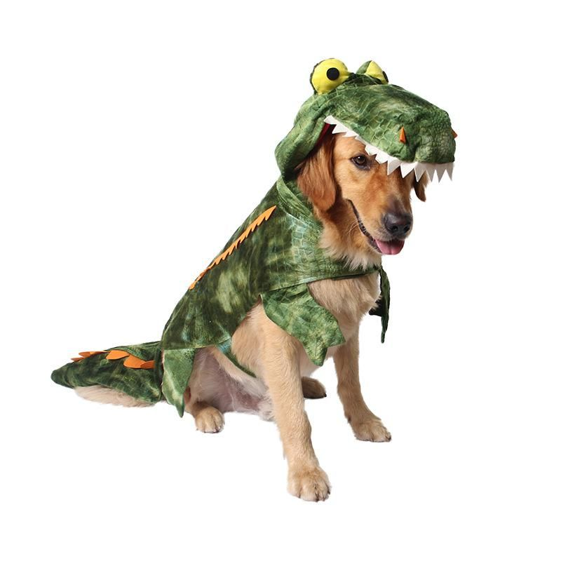 Cute Crocodile With Scales Funny Halloween Costume For Dog Large