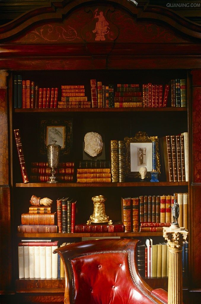 Decordesignreview Bookcase And Gently Tufted Leather