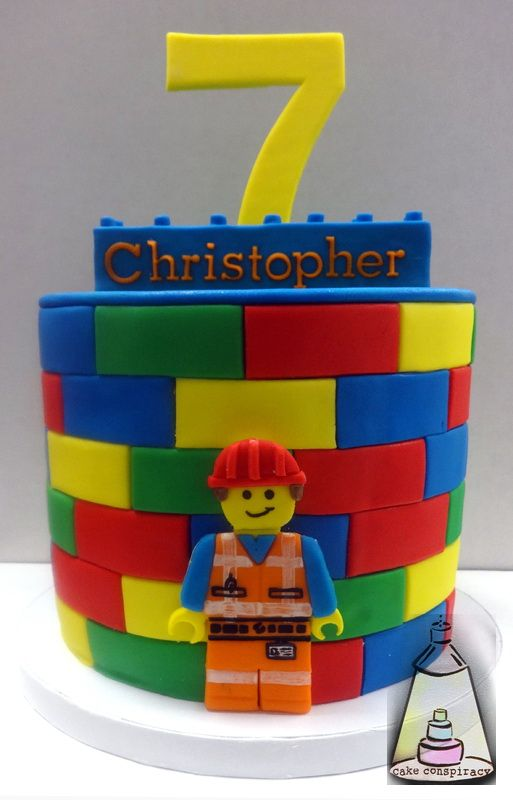 Lego Construction Worker Cake Neat Cakes Pinterest Lego