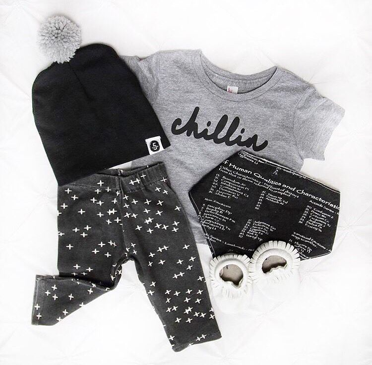 Amazing flat lay by a rad mom featuring our best selling bib and other shops!  Bib=Petite Ocean Boutique Shirt=the.modern.kid Pants=radical_kidco Shoes=5.pompoms.co