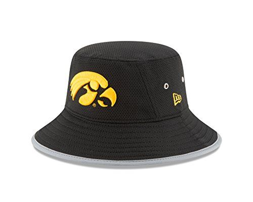 NCAA Adult NE16 Training Bucket Hat  http://allstarsportsfan.com/product/ncaa-adult-ne16-training-bucket-hat/?attribute_pa_teamname=iowa-hawkeyes&attribute_pa_size=one-size  New Era stretch bucket Reflective binding around visor trim Shadow Tech heather under visor