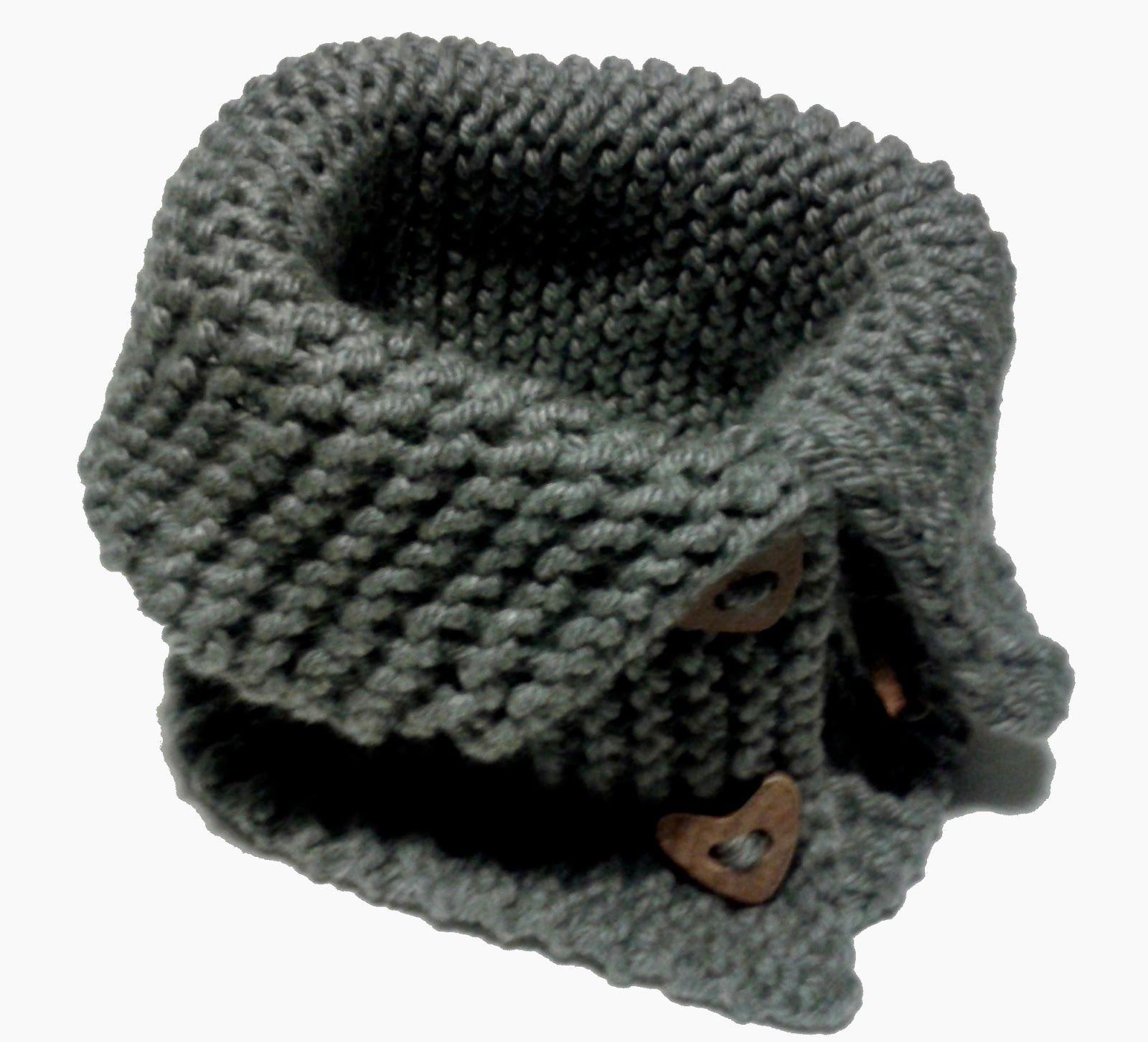 DIY Bufanda de lana cerrada con botones  697c8e5ac26