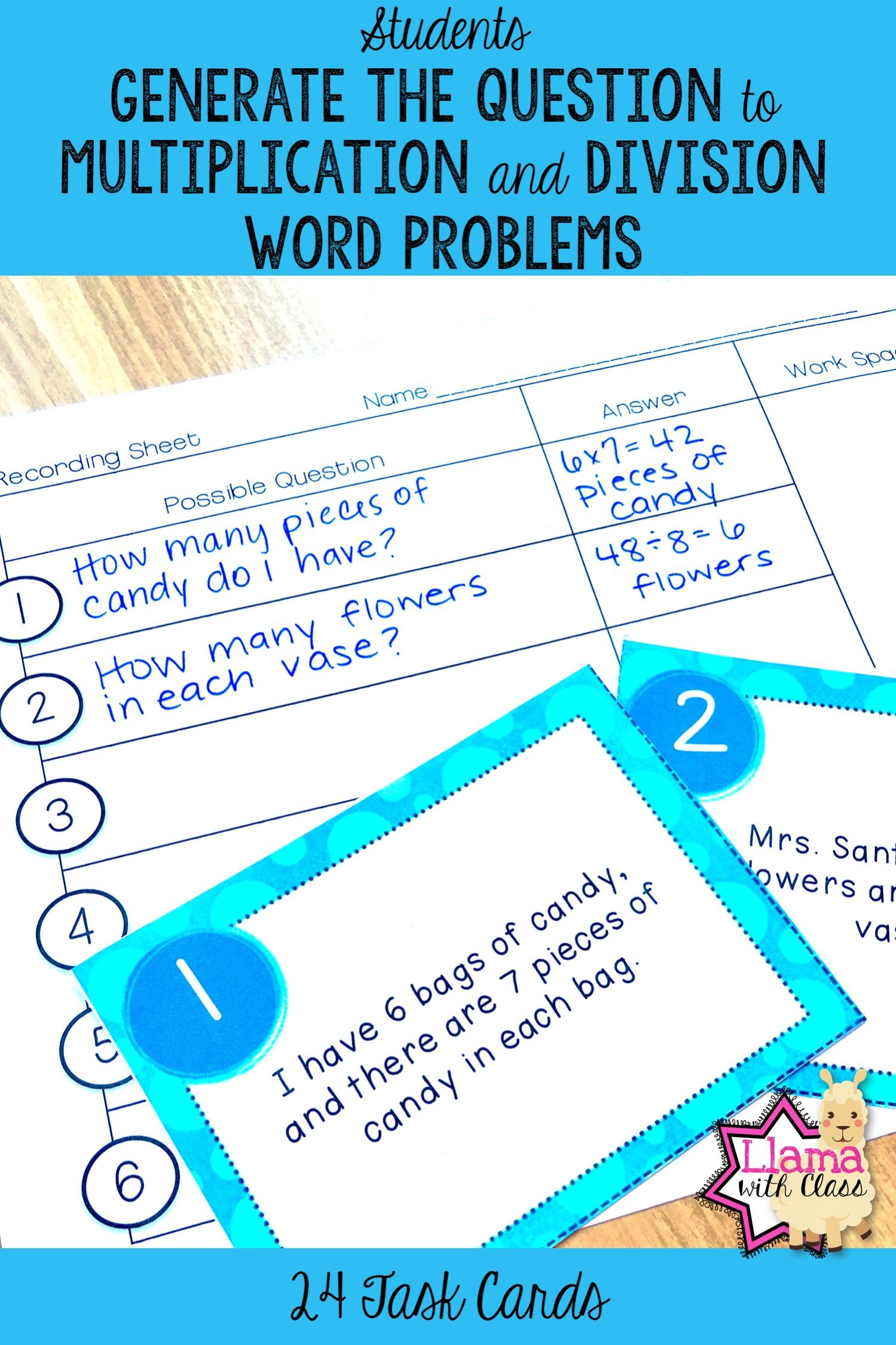 Want your students to think about word problems during math ...