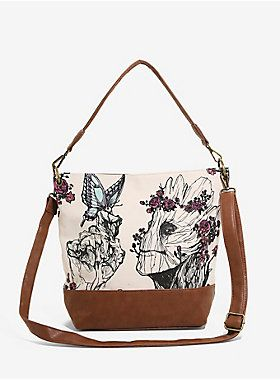 3ba8c548e3a Loungefly Marvel Guardians Of The Galaxy Groot Floral Crossbody Bag ...