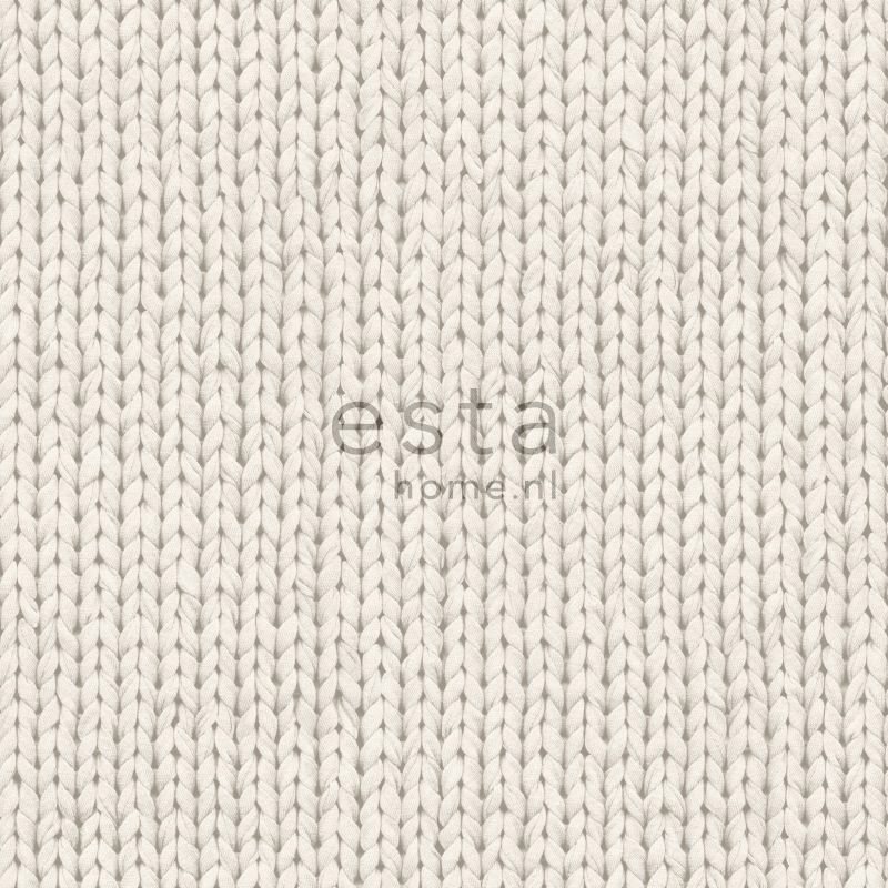 Tapetti Knitting 137720 0,53x10,05 m beige non-woven - Taloon.com