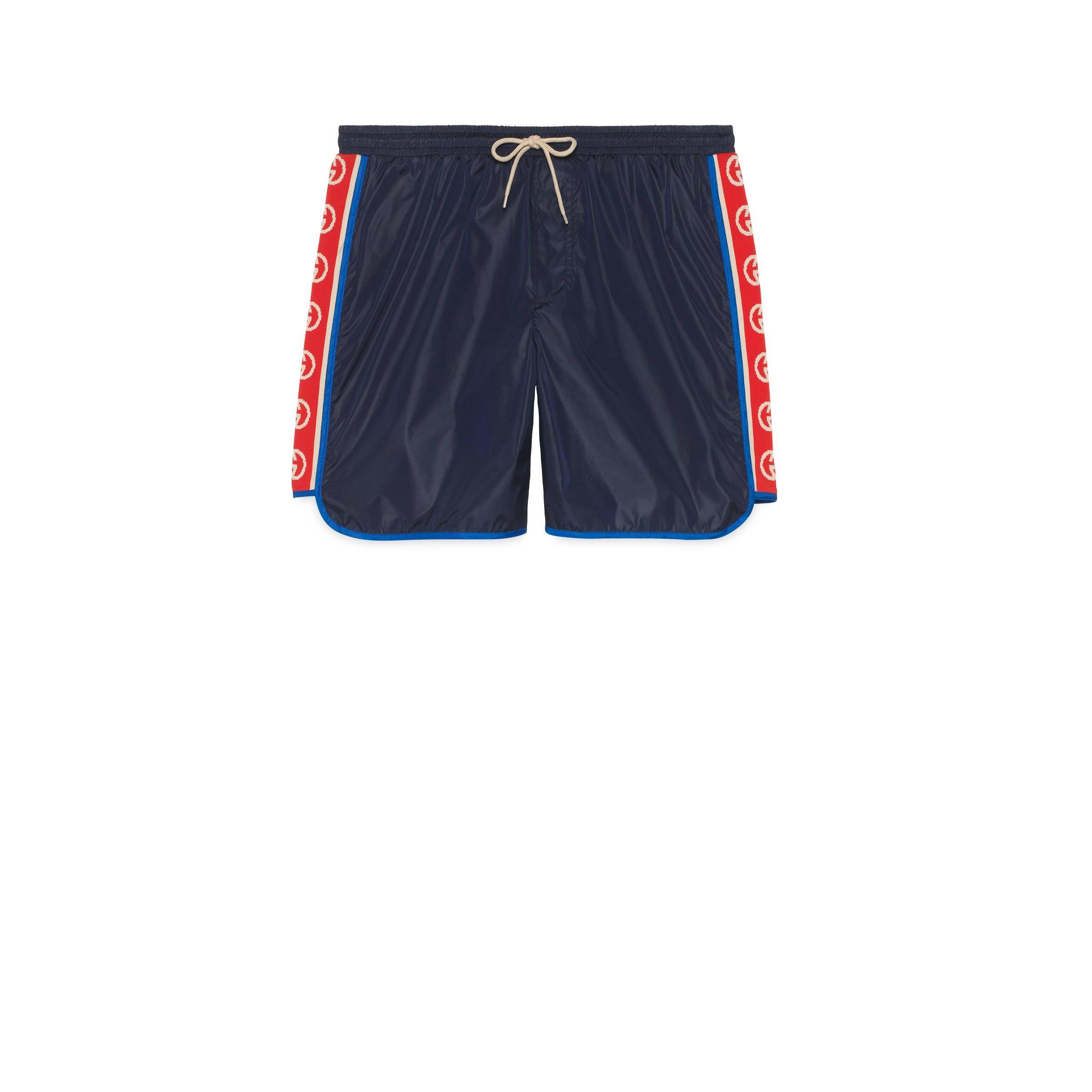 fb57dc7b7b GUCCI NYLON SWIM SHORTS WITH LOGO STRIPE. #gucci #cloth | Gucci in ...
