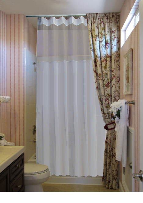 Etonnant Extra Long Shower Curtain Rod Tension : Best Shower Curtain Ideas