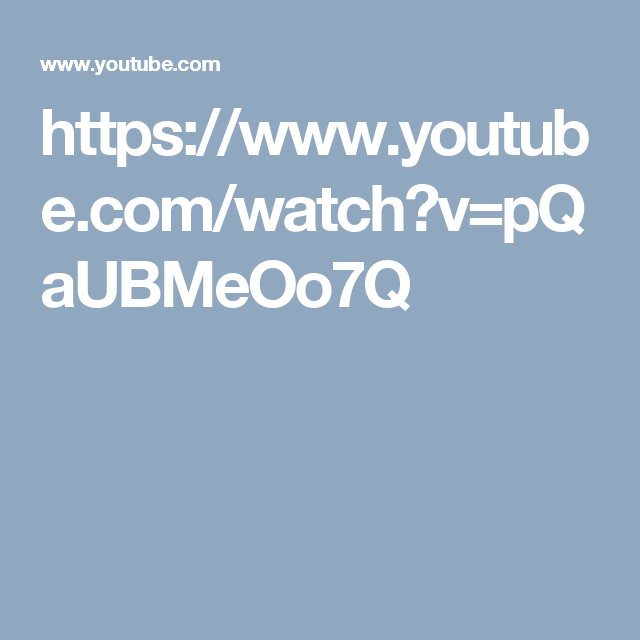 https://www.youtube.com/watch?v=pQaUBMeOo7Q