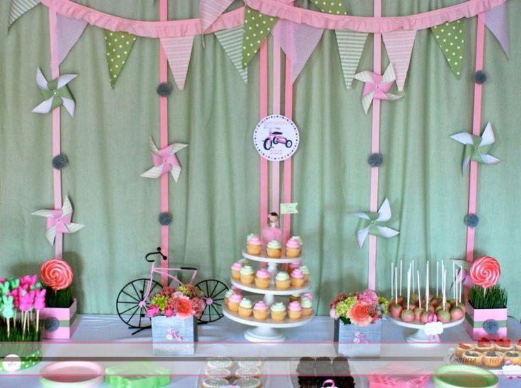 decorar fiesta bici rosa aniversariosfiestas infantilesoriginaleseventosideas de