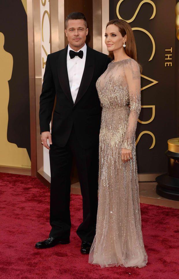 Angelina Jolie Mit Brad Pitt Ballkleid Hochzeit Promi Style Ballkleid
