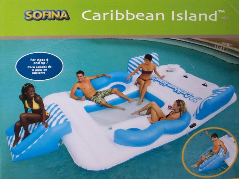 Large Water Floats Caribbean Island Float With Water