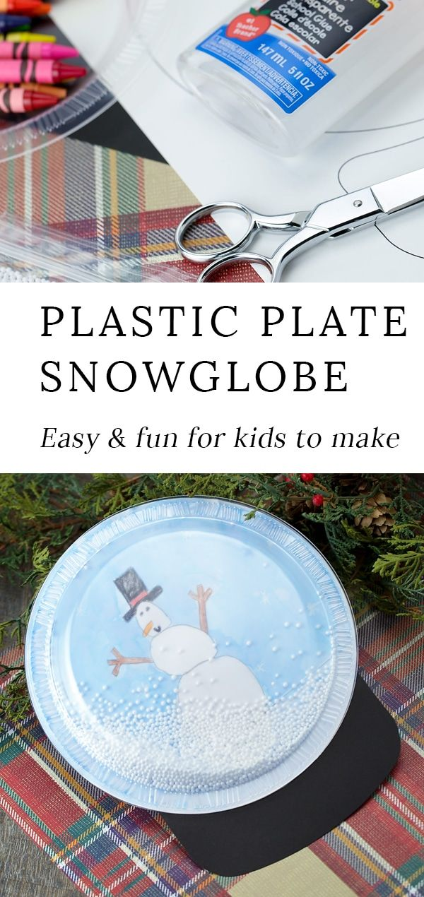 Plastic Plate Snow Globe Craft | Fireflies and Mud Pies