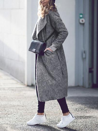 Long winter coat grey