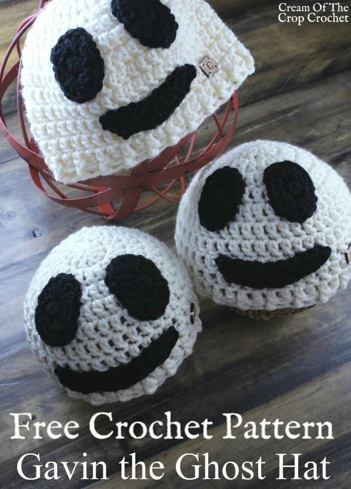 New Pattern | Gavin the Ghost Hat Crochet Pattern | #CROCHET Charity ...
