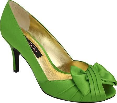 Nina Forbes Satin Pump, Women's, Size: 5 M, Green