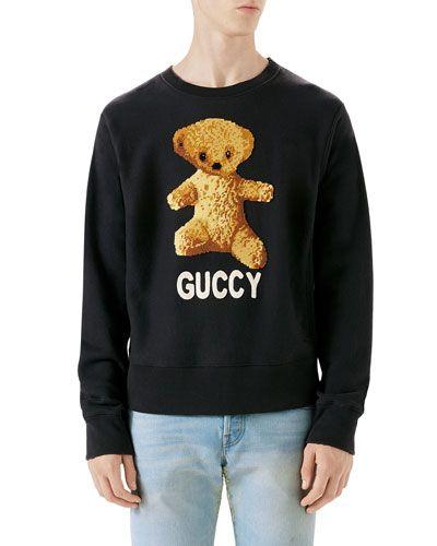 14367162c GUCCI GUCCY TEDDY BEAR SWEATSHIRT. #gucci #cloth # | Gucci Men ...