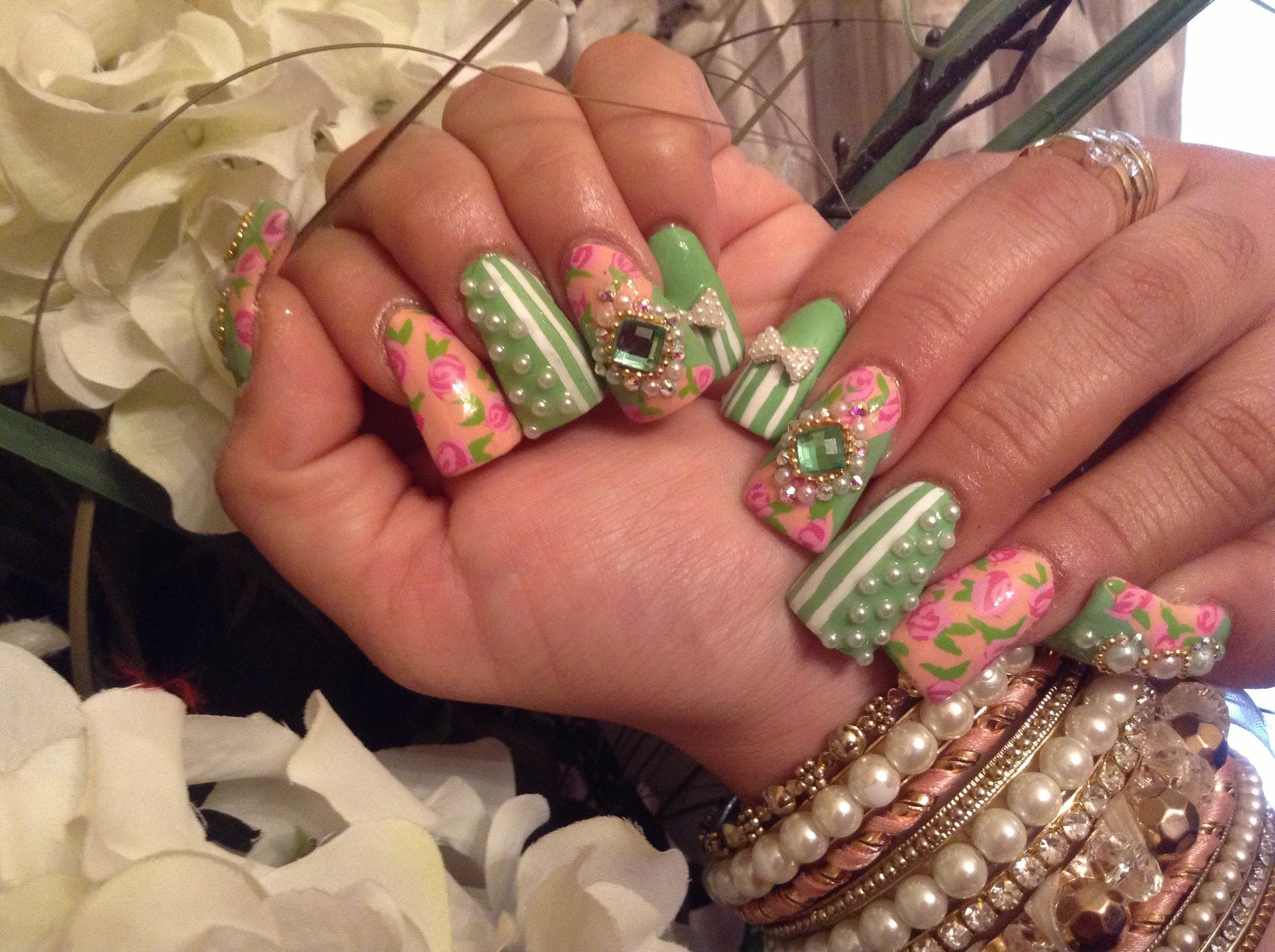 Uñas Acrilicas: Diseño Vintage -Estilo Sinaloa | Nails | Pinterest ...